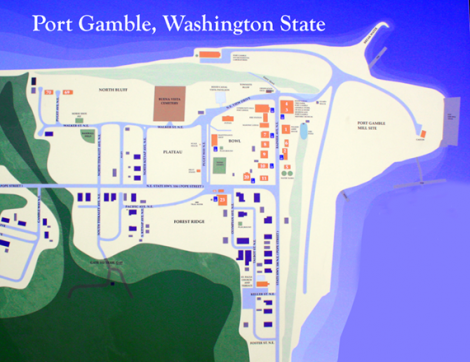 Port Gamble Washington Map.Port Gamble A Historic Sea Side Town In The Pacific Northwest Old