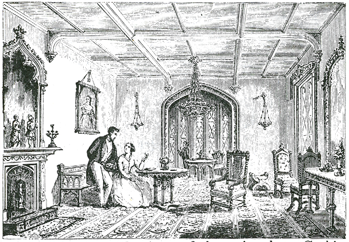 A Drawing Room In The Gothic Style