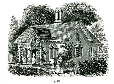 Gothic cottage Downing 1850