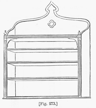 Hanging Bookcase in Gothic Revival style c1850