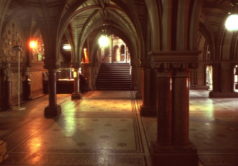 Manchester Town Hall –Entrance Hall - built 1868-1877. Designed by Alfred Waterhouse