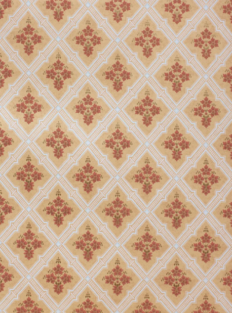 "Reproduction ""Downing"" wallpaper. This 1860's wallpaper was discovered and collected in the 1950's from an 18th century home in New Hampshire Available in two colourways from: www.CharlesRupertDesigns.com"