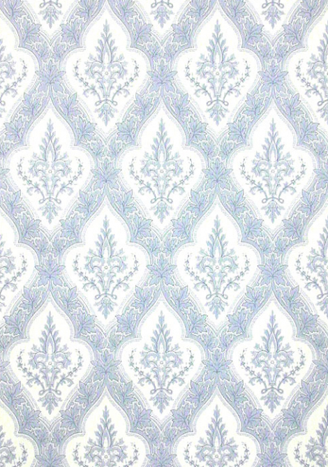 "Wallpaper reproduced from the Drawing Room above: ""Gothic Leaves"" is available from: www.CharlesRupertDesigns.com"