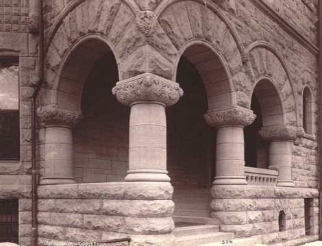 An 1886 Photograph of the porch of the Cable house in Chicago at 25 East Erie Street.