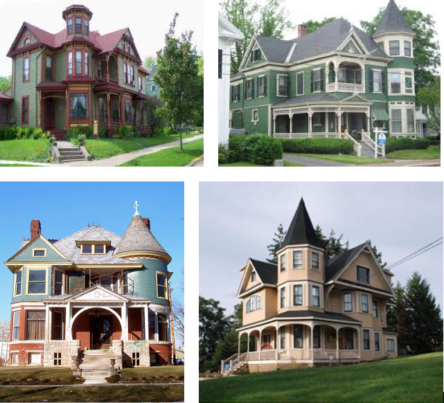 Queen Anne Houses In North America Left Top Denver Colorado Right