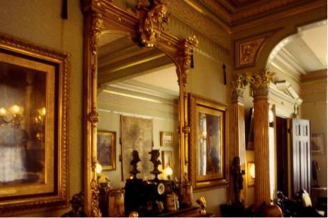 A recreated interior in an Italianate house in San Francisco.